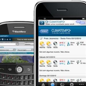 Aplicações para previsão do tempo - celular