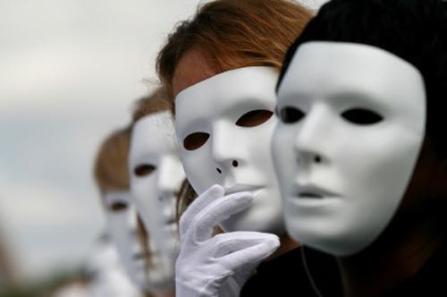 As máscaras das pessoas