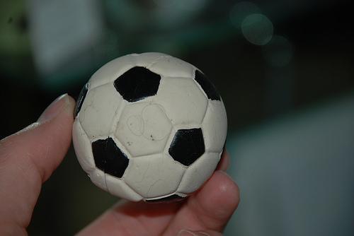 Bolas de futebol decorativas