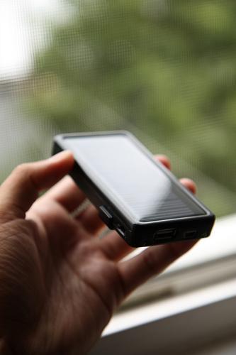 Carregador telemóvel energia solar