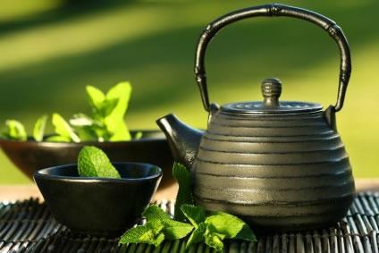 Chá verde bebida poderosa