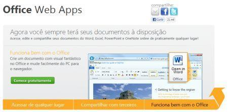 Como utilizar o Office Web Apps