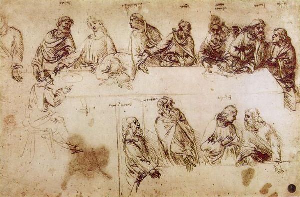 O estudo dos apóstolos na obra última Ceia, de Leonardo da Vinci