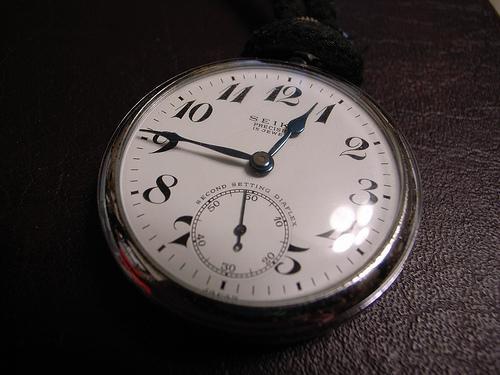 Os antigos relógios de bolso