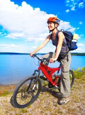 Os prazeres de pedalar ao ar livre!