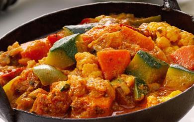Prepare um Picante Caril de Legumes