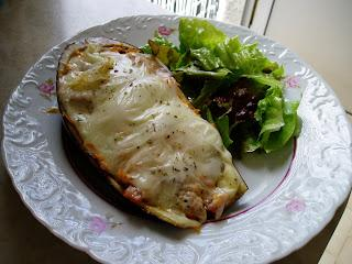 Receita Vegetariana - Beringelas Gratinadas com Soja Fina