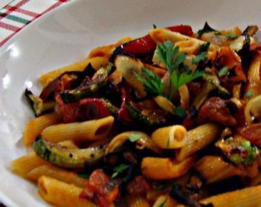 Receita Vegetariana: Penne com Legumes Assados