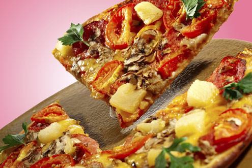 Receita Vegetariana - Pizza com Curgete, Pimento Amarelo e Pinhões
