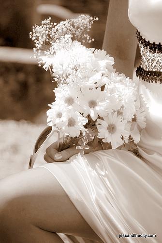 Romântico vestido de noiva