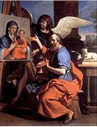 São Lucas Pintando a Virgem Maria do pintor Guercino