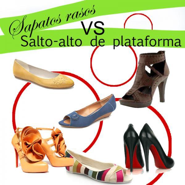 Sapatos Rasos VS Sapatos de alto com plataforma