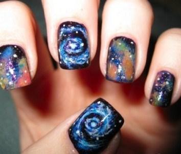 Unhas galáxia passo a passo