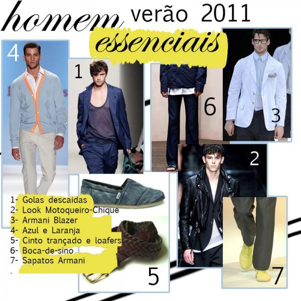 Verão 2011- Essenciais para Homem