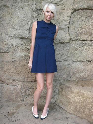 Vestido azul petróleo