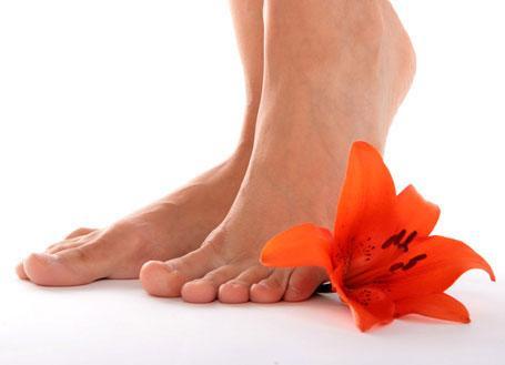 Candida dos pés