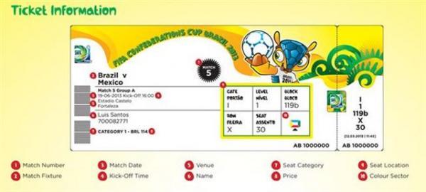 Conheça as 10 características do ingresso para a Copa do Mundo 2014