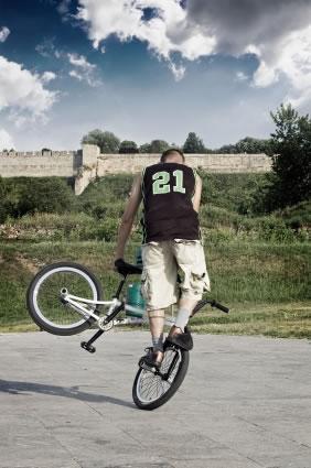 Cross em bicicleta