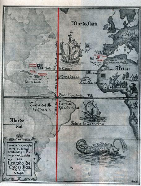 De encontro ao Tratado de Tordesilhas