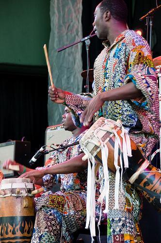 Instrumentos de sopro africanos