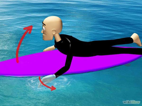 Mantenha o equilibrio em cima de uma prancha de surf