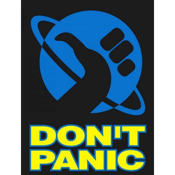 """Não entre em pânico, pegue uma toalha e conheça a obra """"O guia do Mochileiro das Galáxias""""."""