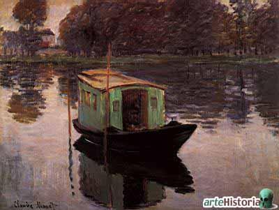 O barco como atelier de Monet