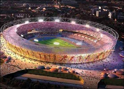O estádio olímpico de londres 2012