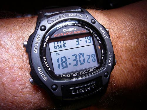 Porque um relógio digital?