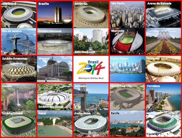 Saiba sobre o andamento dos estádios nas 12 cidades-sede do Mundial 2014