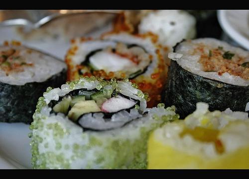 Vai um sushi?