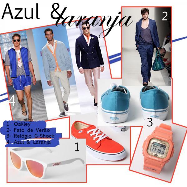 Verão 2011- Azul e Laranja para Homem