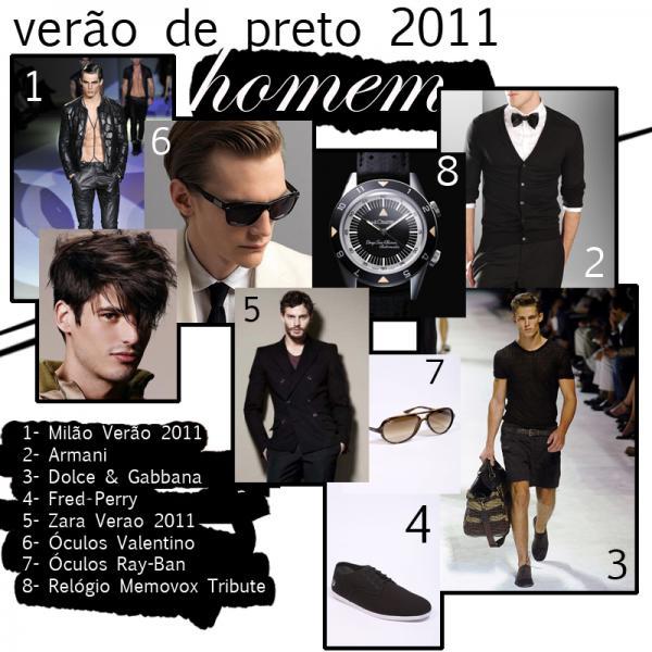 Verão 2011- Preto para Homem