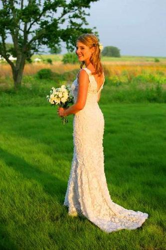 Vestido de noiva de alças